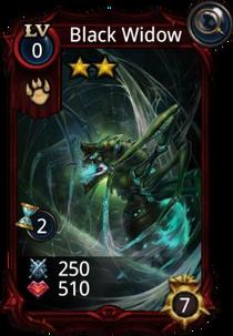 Black Widow creature card