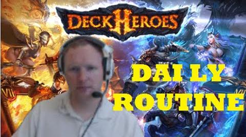 DECK HEROES Daily Routine Play Session & Rolling Runes