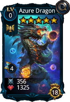 Azure dragon card