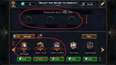 Valhalla shard production