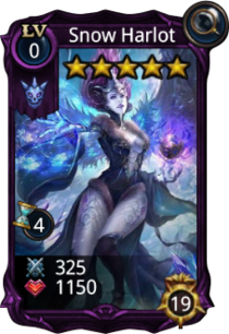 Snow Harlot creature card