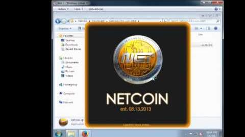 Netcoin wallet setup (new blockchain in description every month)