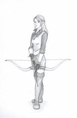 Elven archer by Sheelena