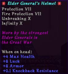 Elder Generals helmet