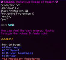 Chaos, Nefarious Robes of Medivh