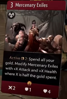 Mercenary Exiles - Artifact