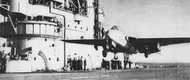 File:DeHavilland Vampire HMS Ocean Dec1945 NAN1 47.jpg