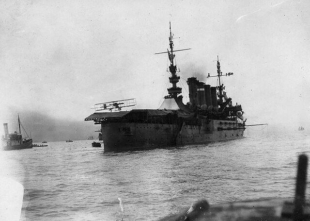 File:USS Pennsylvania - First airplane landing.jpg