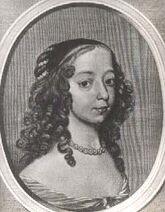 Portrait of Albertina Agnes of Nassau, Cornelis de Visscher (1649)