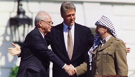 Rabin at peace talks