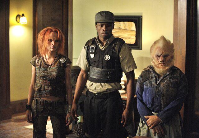 File:001 The Devil in the Dark episode still of Irisa Nolan, Tommy LeSalle and Bertie.jpg