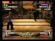 Manny in 4 way fight