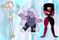 Garnet Pearl and Amethyst