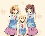 Sakurasou trio