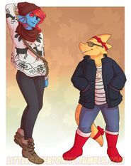 Undyne and alphys
