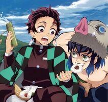 Inosuke and Tanjiro