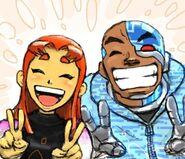 Cyborg and Starfire