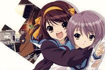 23 haruhi hugs yuki