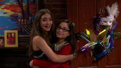 Riley & Smackle hug