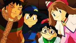Brock, Ash, May and Max