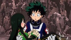 Midoriya and Tsuyu
