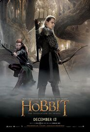 Hobbit the desolation of smaug tauriel legolas poster2