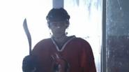 Cam playing hockey woo