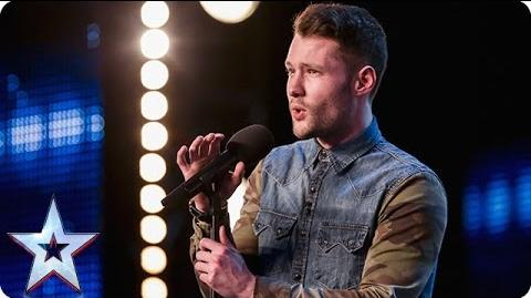 Golden boy Calum Scott hits the right note Audition Week 1 Britain's Got Talent 2015