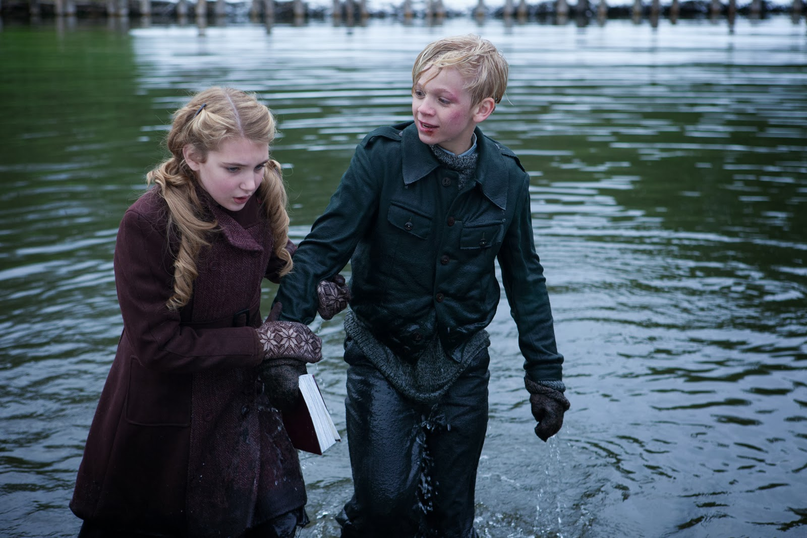 image sophie nelisse and nico liersch the book thief jpg  sophie nelisse and nico liersch the book thief jpg