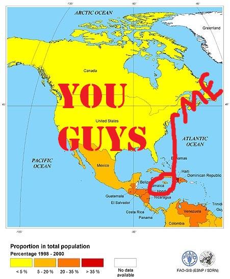 Jamaica On World Map