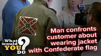 Man confronts customer wearing jacket with Confederate flag WWYD-0