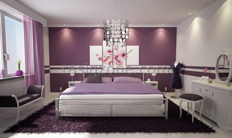 Luxury Purple Bedroom Interior Design The Comfortable And Wonderful Bedroom  Design For Young Women 920x550