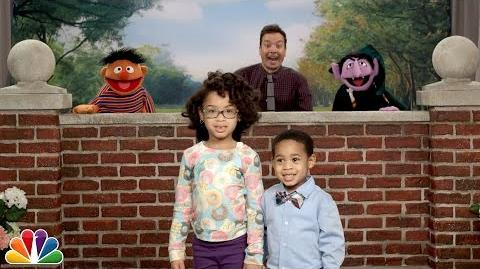 """Tonight Show Celebrity Photobomb"" with Jimmy Fallon and Sesame Street"
