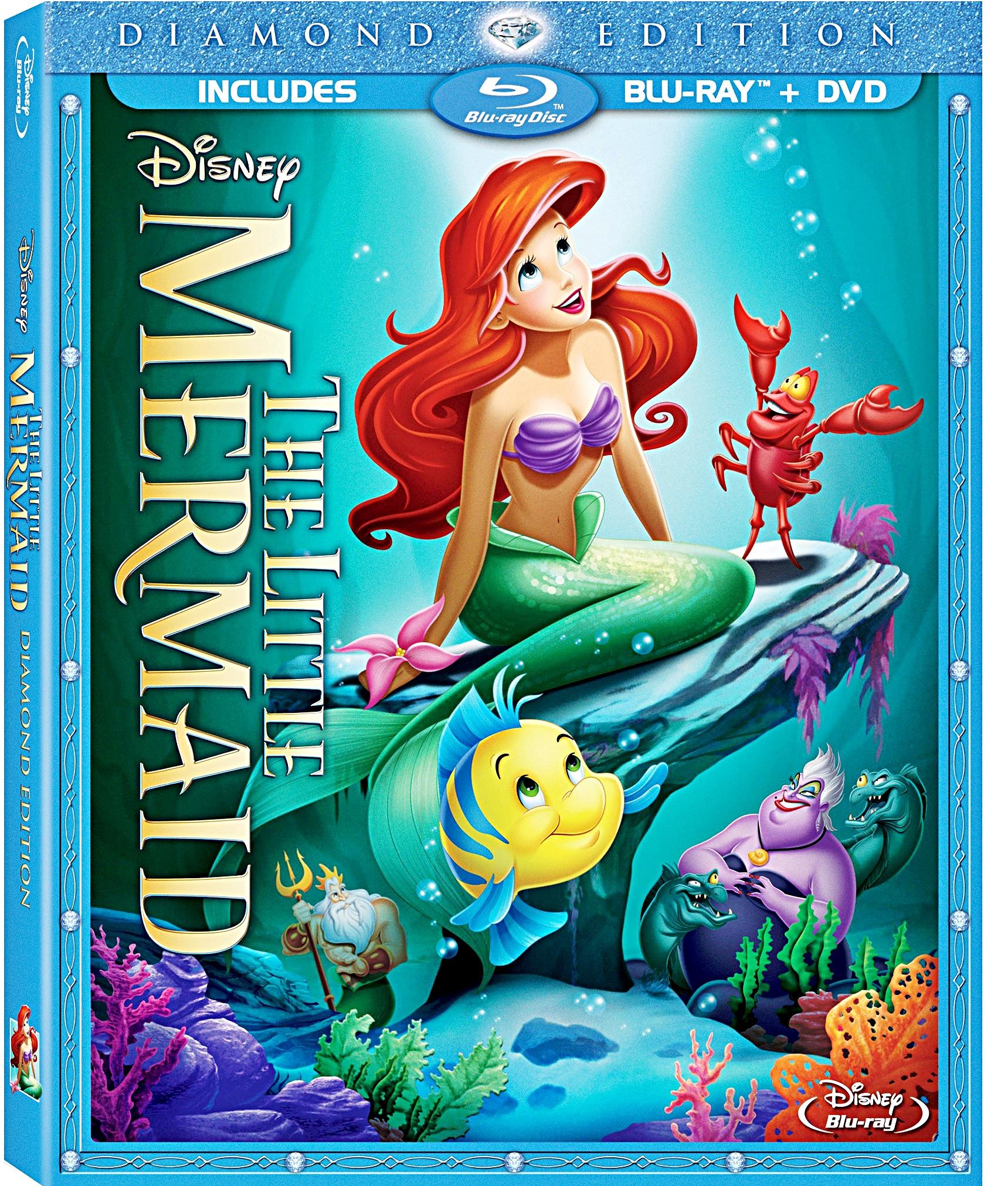 Edition Diamond: The-Little-Mermaid-Diamond-Edition-Blu-Ray-Cover
