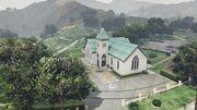 Kleine Kirche in LS mt Friedhof