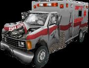 Krankenwagen damaged, III