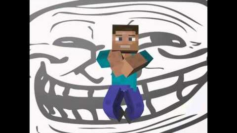 Minecraft troll face gangman style
