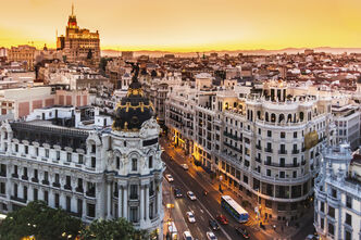 Panoramic-view-of-gran-via-madrid-spain-1