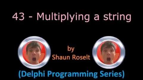 Delphi Programming Series. 43 - Multiplying a string