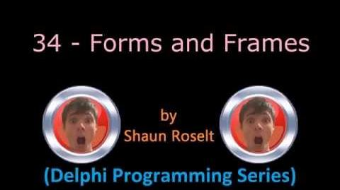 Delphi Programming Series 34 - Forms and Frames