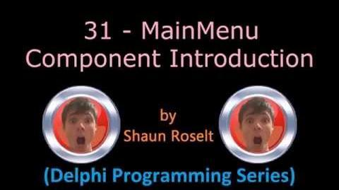 Delphi Programming Series 31 - MainMenu Component Introduction.mp4