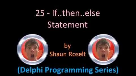 Delphi Programming Series 25 - If..then..else Statement