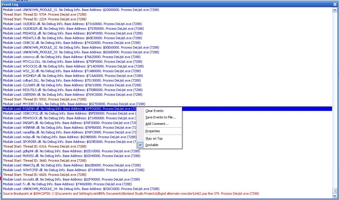 EventLogWindow