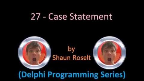 Delphi Programming Series 27 - Case Statement