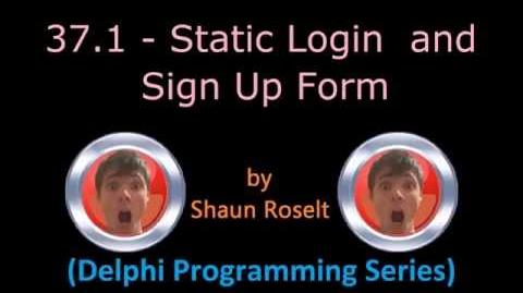 Delphi Programming Series 37.1 - Static Login and Sign Up Form