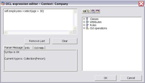 ECO OCL editor