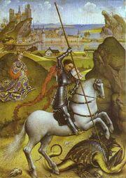 Rogier van der Weyden - Saint George and the Dragon