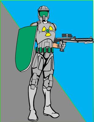 Lt. Senten with Armor