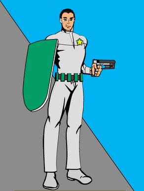 Lt. Senten without armor