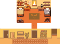 Toriel's House map top floor